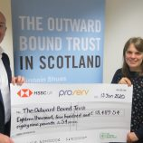 Proserv Controls CEO Davis Larssen presents fundraising cheque to Outward Bound
